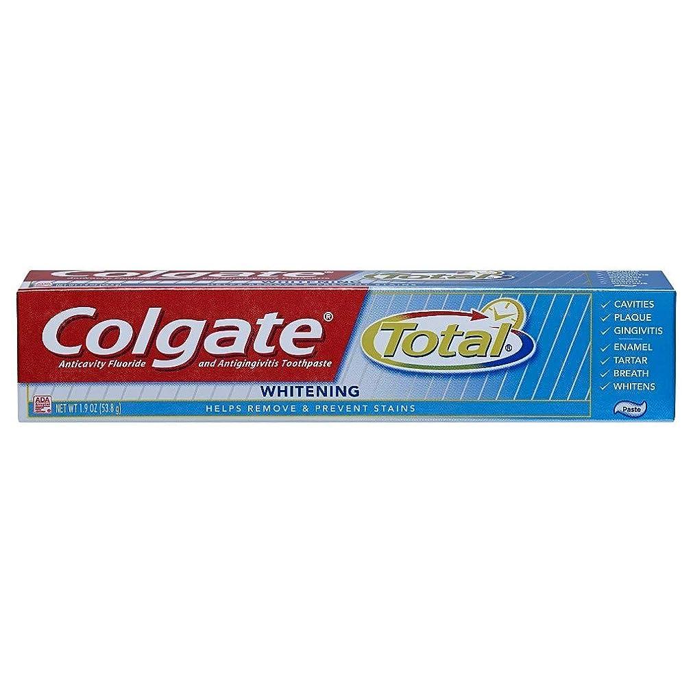 悪い大学院妥協Colgate 合計トラベルサイズホワイトニングペースト歯磨き粉、1.9オンス 1パック
