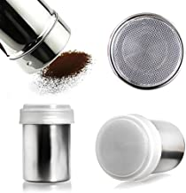 HANSGO Pepper Salt Shaker, 2PCS Stainless Steel Dredge Shaker Seasoning Cans