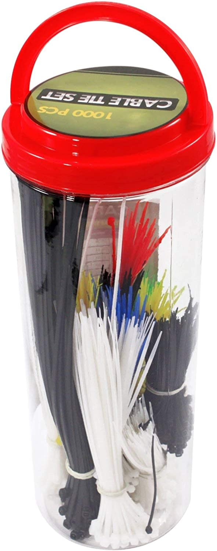 Spielset Kabelbinder, 1000 Einzelteile Utility und Notfall-Mehrzweck-Kit B016YR9PXA | Rabatt