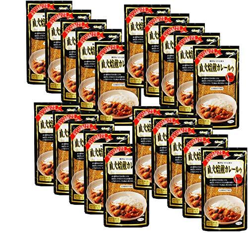 無添加 直火焙煎 カレールゥ ・ 辛口 170g×20個<箱売り>★ 宅配便 ★厳選した香り高いスパイスと新鮮な生野菜・果物を使用し、直火の釜で少量ずつ時間をかけて焙煎した 辛口 タイプ の カレールウ です。国産小麦粉使用。カラメル色素を使用していません