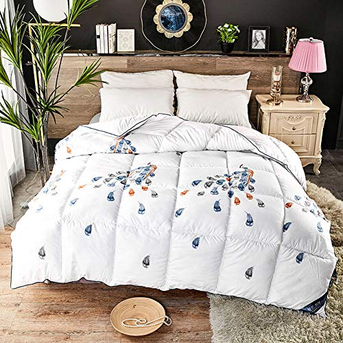 BAIHAO Winter Duvet King Size 13.5 Tog Luxurious Goose Feather & Down Quilt,quilt Cashmere Warm Moisture/gas-permeable Anti-dust Mite Feather-proof Fabric Anti-allergen