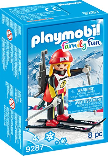 Playmobil- Biathlète, 9287, Multicolore