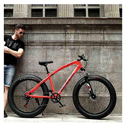 SOAR Bicicleta de montaña Bicicleta MTB Adulto Agua Motos de Nieve Bicicletas Bicicleta de montaña for Hombres y Mujeres de 26 Pulgadas Ruedas Ajustables Velocidad Doble Freno de Disco