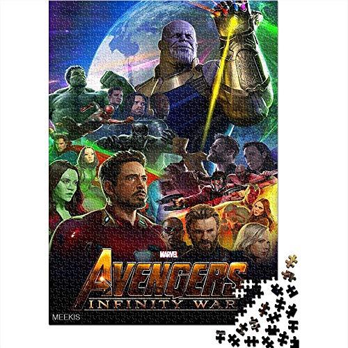 CELLYONE Puzzle da 1000 Pezzi Avengers 3: Infinity War Movie Poster 1000 Puzzle in Legno per Adulti Puzzle Giocattolo Divertente per la Famiglia 52x38CM(1000pcs)