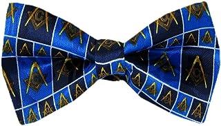 PBTN-185 - Masons Pre-Tied Bow Tie, Black Blue, One Size