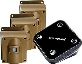 Wireless Driveway Alarm w/Three Sensors Kit Outdoor Weather Resistant Motion Sensor/Detector- Best DIY Security Alert System- Protect Home, Perimeter, Yard, Garage, Gate, Pool