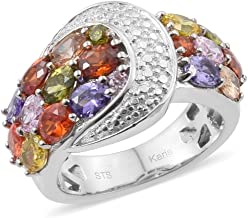 Shop LC Delivering Joy Yellow and Orange Cubic Zirconia CZ Statement Ring for Women Cttw 3.6 Jewelry