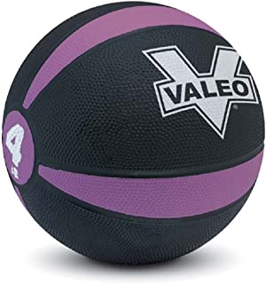 Valeo -Pound Medicine Ball with Sturdy Rubber Construction and Textured Finish, Weight Ball Includes Exercise Wall Chart for Strength Training, Plyometric Training, Balance Training and Muscle Build