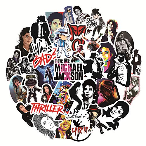 Michael Jackson Stickers for Laptop and Phone, Cool Vinyl Decal for Skateboard, Water Bottle, Travel Case, Teen Bicycle Computer Graffiti Stickers - Music Singer
