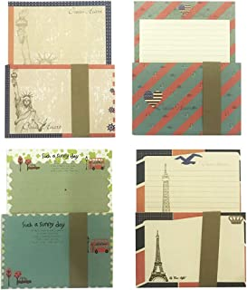 32 Lovely Cute Writing Stationery Paper Letter Set with 16 Envelope + 1 Sheet Label Seal Sticker,C138