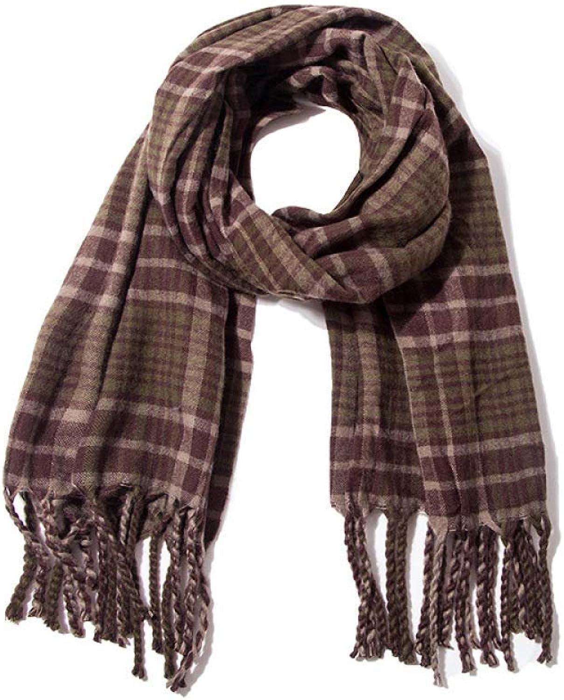 Juexianggou Autumn d winter scarves, plaid scarves, men's d women's plaid scarf shawls, warm scarves Lightweight Women Scarf
