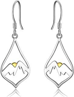 Statement Jewelry Bohemian Earrings Mountain Top Earrings Stained Glass Earrings Mountain Earrings Earthy Earrings Triangle Earrings