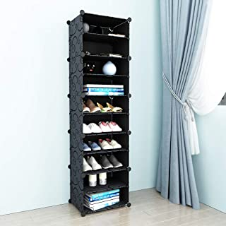 SIMPDIY Shoe Storage Plastic Large Sneaker Storage Shoe Cabinet Shoe Rack Storage Organizer System for Boots Shoes, Accessories