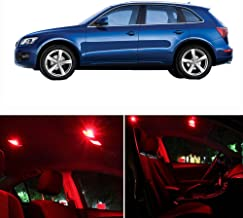 SCITOO Fits For AUDI Q5 2009-2017 Interior LED Light 14 Pcs Red Package Kit Replacement Bulbs