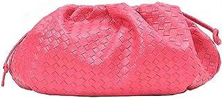 Fanspack Shoulder Bag Creative Cloud ShapeMessenger Bag Weave Clutch Bag Crossbody Bag