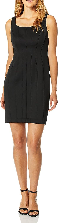 Karl Lagerfeld Paris Women's Ruffle Pearl Trim Sleeve Fit and Flare Dress