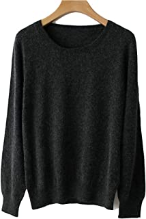Spring Winter O-Neck Cashmere Wool Sweater Women Solid Big Pullovers Jumper Knitted Sweaters