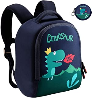 Lehoo Castle Dinosaur Backpack for Boy, Toddler Boy Backpack for 4-6 Years Old, Dino Backpack for Toddler, Dinosaur Bag Dinosaur Gifts for Boys