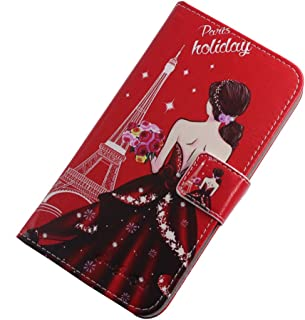 TienJueShi Dream Girl Fashion Stand TPU Silicone Book Stand Flip PU Leather Protector Phone Case For Infinix S5 Pro 6.53 i...