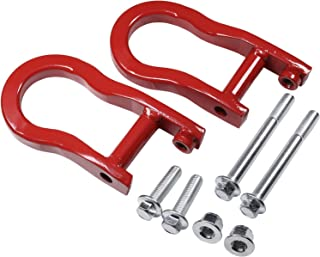 CARMOCAR Front Tow Hooks Replacement for Chevy Silverado GMC Sierra 1500 2007-2019 in Red Car Tow Hook Ring Front Lower Bumper Trailer Ring 84192871 Steel Alloy