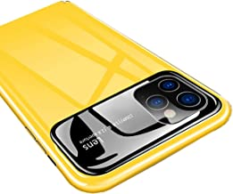 IKWZ iPhone 11 Pro Max Case with Anti-Spy Privacy Screen Protector Full Body Protection Shockproof Cover Case for iPhone 11 Pro Max (6.5 inch) (Yellow)