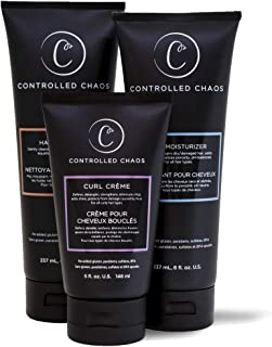 Controlled Chaos Bundle Package: Deep Cleansing Shampoo, Hydrating Conditioner and Curl Smoothing Creme - As Seen on Shark Tank