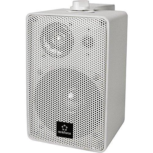 Renkforce RL100W WH Regallautsprecher Weiß 100 W 90 Hz - 20000 Hz 1 Paar