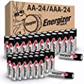 Energizer MAX AA Batteries & AAA Batteries Combo Pack, 24 AA and 24 AAA (48 Count) from AmazonUs/ENEBY