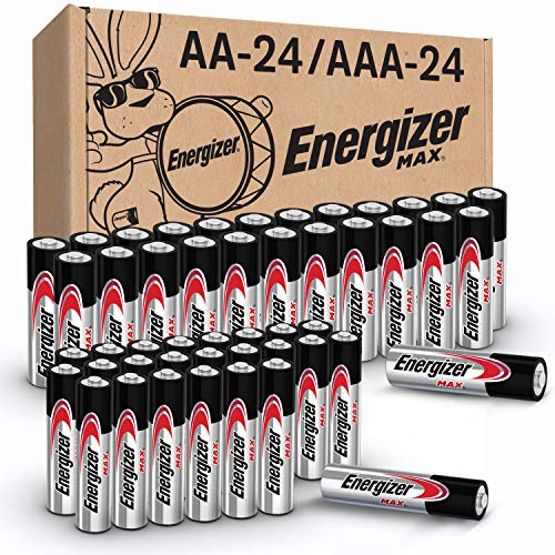 Energizer MAX AA Batteries & AAA Batteries Combo Pack, 24 Double AA Batteries and 24 Triple AAA Batteries (48 Count)