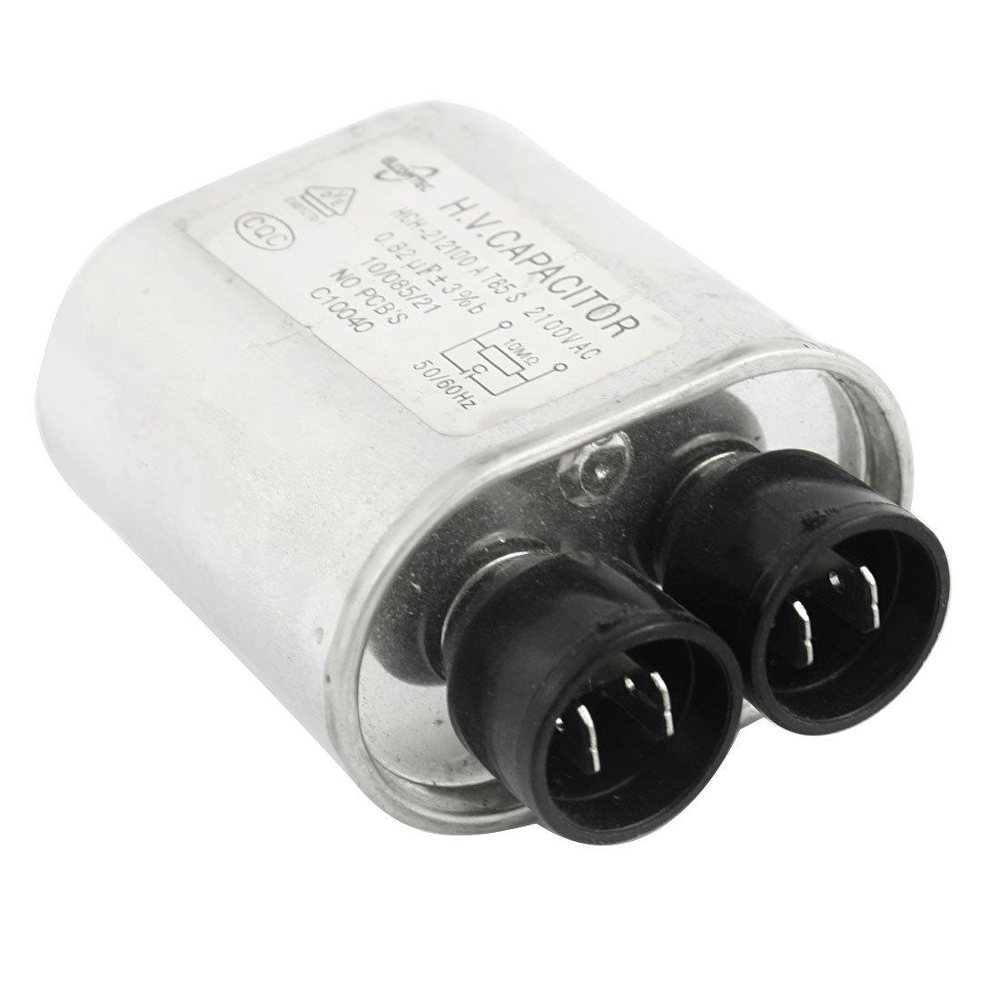 AC 2100 V 0,82 uf cilíndrica de Alto Voltaje de Condensador de ...