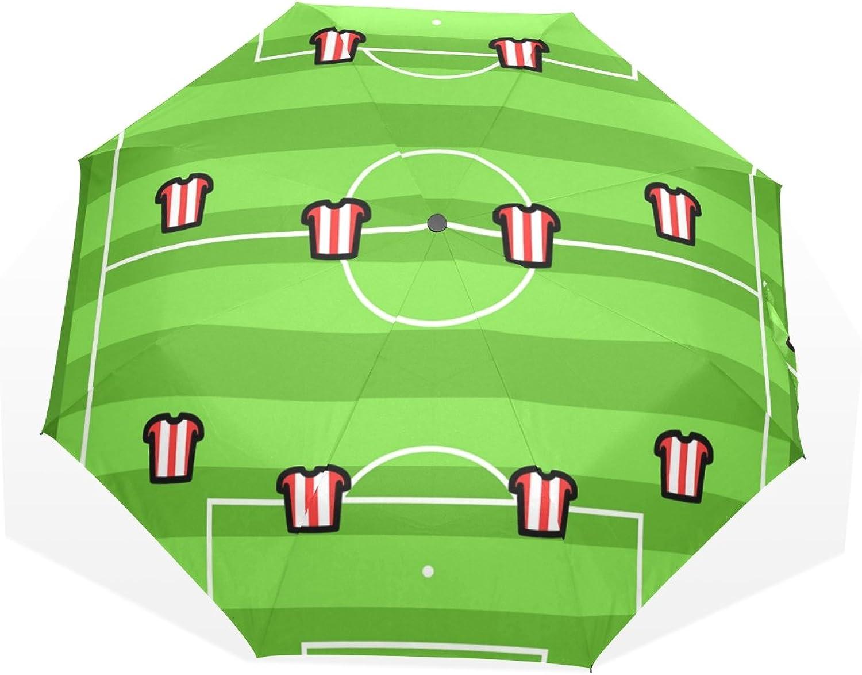 GUKENZ Football Tactics Travel Umbrella Lightweight AntiUV Sun Rain Umbrella for Men Women and Kids, Windproof Folding Compact Umbrellas