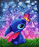 DIY 5D Diamond Painting by Number Kits,Crystal Rhinestone Diamond Embroidery Paintings for Adults and Beginner Diamond Arts Craft Home Decor Butterfly (16x12in)