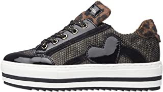 Nero Giardini A931221F Sneakers Teens Fille en Cuir Velours Et Toile