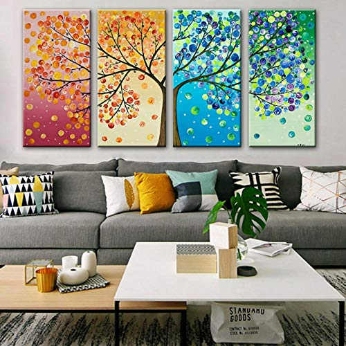 Paintings Hand Painted Modern Abstract Oil Painting On Canvas Wall Art Picture For Living Room Home Hotal Decor Best Gift 30x60cmx4 Unframed