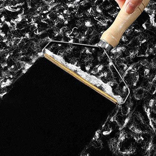 Removedor De Pelusa Portátil Rodillo De Eliminación De Pelusa Manual Afeitadora De Tela Pelusa para Suéter Abrigo Tejido Herramienta De Cepillo Madera