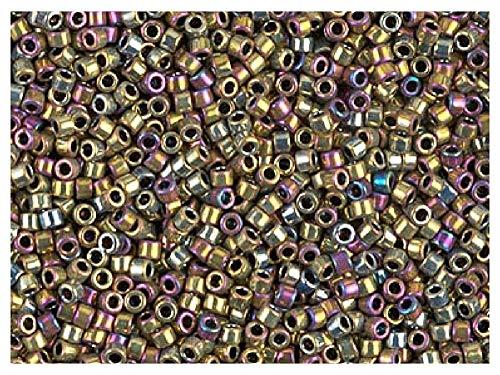 Miyuki Delica Beads environ 11//0 1,6 mm gris clair argent a 5 g