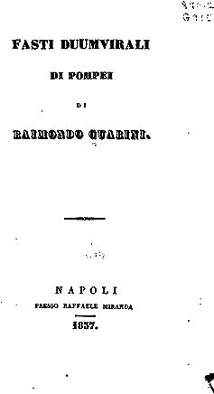 Fasti Duumvirali di Pompei