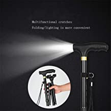 Height Adjustable Folding Cane/Walking Stick with Portable,Safe and Durable Walking Assistant- Non-Slip Grip Handle- Men, Women, Elderly