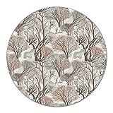 Coloray Tabla De Cortar Placa De Induccion ⌀ 40 cm Protector Para Servir Platos Cocina Vidrio Templado - Árboles de invierno estilo de bosque de madera Pastel