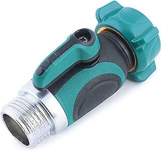 Freehawk hose splitter/hose valve/hose faucet/hose connector/ Garden Hose to Hose Shut Off Valve   Arthritis Friendly Faucet Extension. Ergonomic, Aesthetic (Straight Shut-Off Valve)