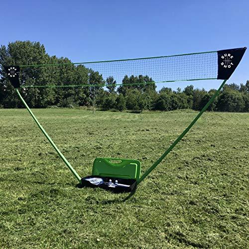 Sure Shot Quick Fit Junior Outdoor Badminton-Set, grün/schwarz