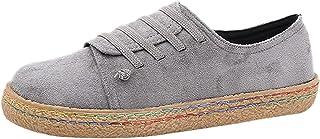 Escarpins Femme Talon Haut Sexy Suède Mocassins et Loafers Blanche Femme Chaussure Roulette Shoes Sandal Slipper Boot Simp...