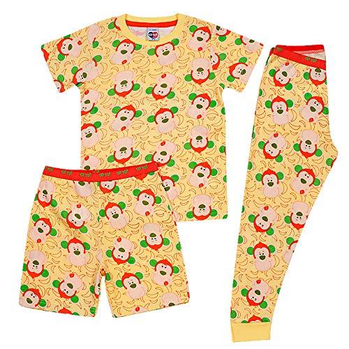 Conjunto Pijama Animais, Tip Top, Criança Unissex, Amarelo, 1T