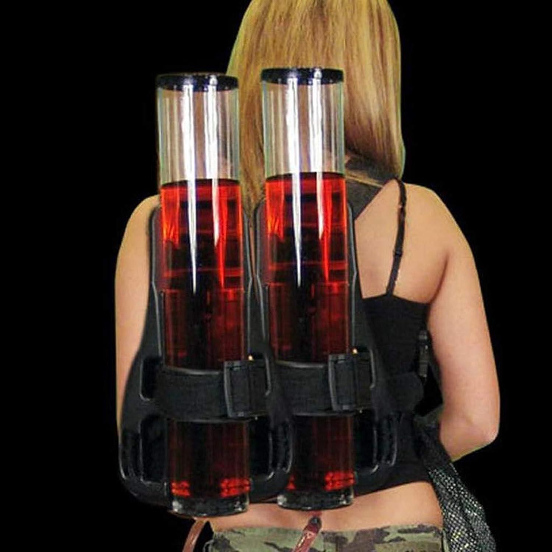 FYQF Bier Wasserspender, Doppelzylinder Einzelzylinder Doppelschulter Dekanter Alkohol Flüssiges Erfrischungsgetrnk Minibar Zubehr Kapazitt 3l Dekanter,XXL