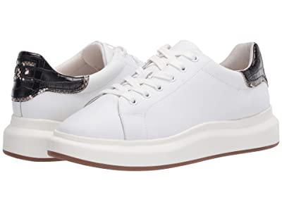 Sam Edelman Moxie (Bright White/Black New Air Action Leather/Kenya Croco) Women