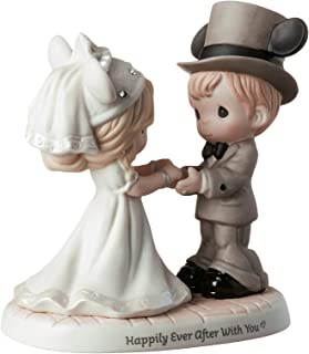Precious Moments Disney Showcase Wedding Couple 191061 Figurine, One Size, Multi