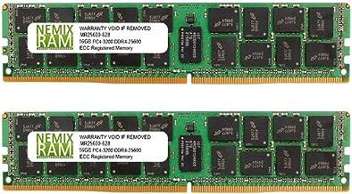 32GB 2x16GB DDR4-3200 PC4-25600 2Rx8 RDIMM ECC Registered Memory by Nemix Ram
