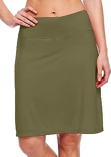 "Willit Women's 20"" Knee Length Skorts Skirts Tennis Athletic Golf Skirts Modest Sports Casual Skorts Pocket UV Protection"