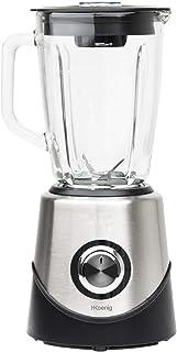 H.Koenig Blender mixer MX15 bol en Verre Multifonctionnel 1,5L Inox, puissant 500W professionnel, Facile à nettoyer, 2 vit...
