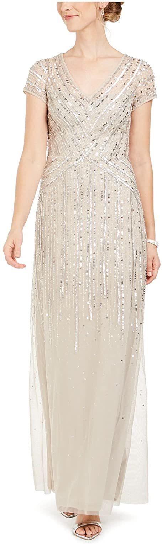 Adrianna Papell womens Long Beaded Dress